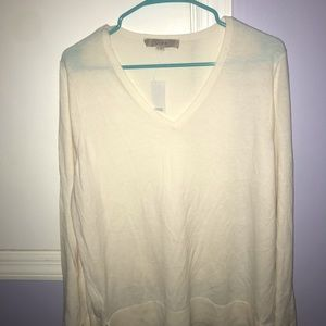 White XL loft sweater NWT